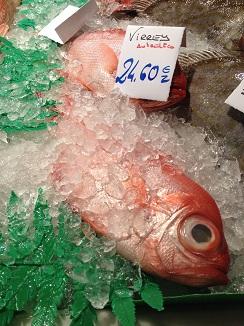 Virrey, el gran ausente de la cata. Foto tomada en el mercado de Avilés, a pesar de que está en veda se sigue vendiendo como auténtico