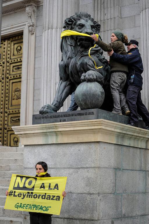 Greenpeace ley mordaza