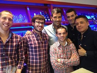 Paco Roncero con parte de su equipo. Siempre sonrisas