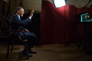 Obama en estudio hangout Google+