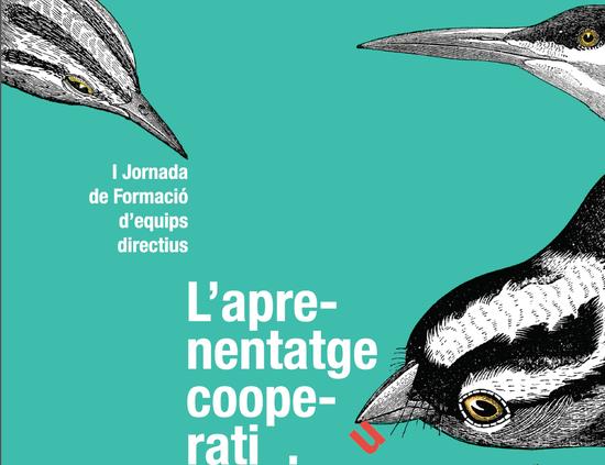 El aprendizaje cooperativo, cartel de Paco Salabert, profesor en la Escuela Superior de Arte y Diseño de Valencia