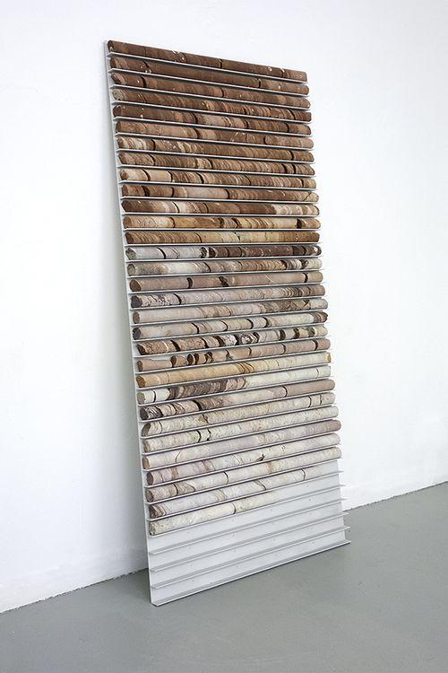 Carls Irijalba Paused Sequence, 2013. Sondeos y soporte de aluminio.200x90cm