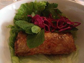 Nem Ran (rollitos fritos) vietnamitas rellenos de cerdo ibérico