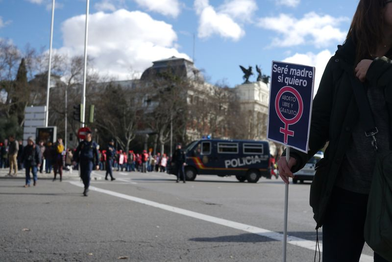 Madrid abortion protest 1