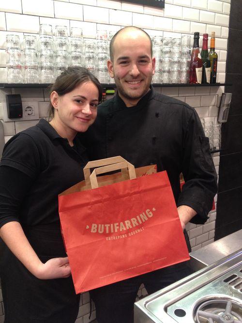 El cocinero Albert Gómez y Alba, al cargo de Butifarring