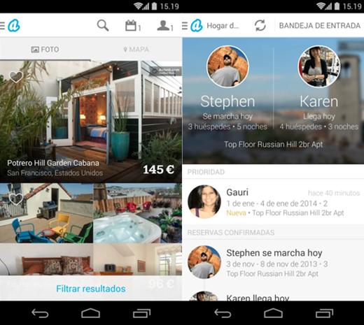 Aplicacion airbnb