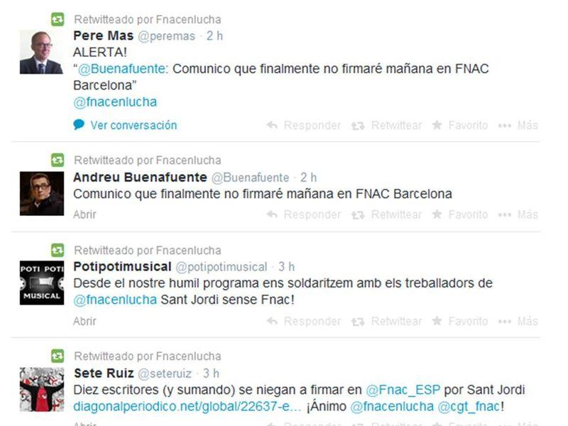 Buenafuente FNAC en lucha