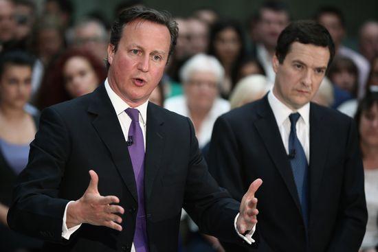 David Cameron (izquierda) y George Osborne.