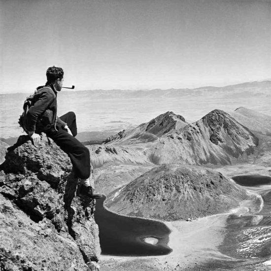Autorretrato de Juan Rulfo en el Nevado de Toluca, década de 1940