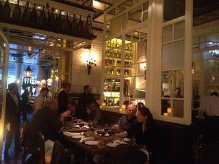 Ibérica Farringdon en un momento de la cena