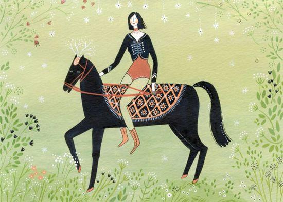 The rider, Yelena Bryksenkova