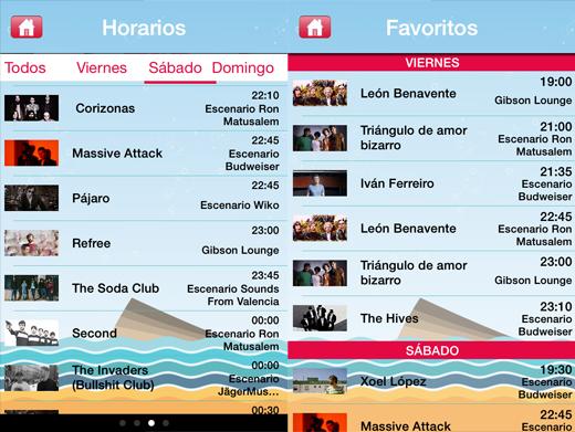 Horarios app low festival