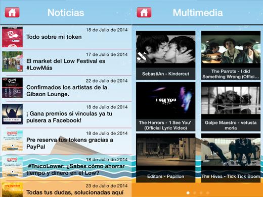Contenido app low festival