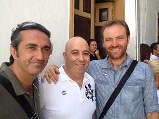 Los cocineros José Carlos García y Diego del Río, junto con el prestigioso agricultor Cristobal Hevilla