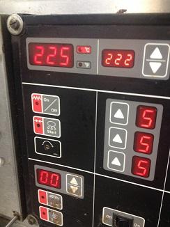 10) Horno preparado a 220ºC