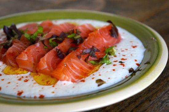 Salmon marinado ginebra