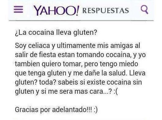Cocaina gluten