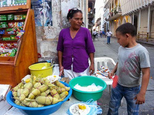 Piedad, vendeora de bollos, Cartagena