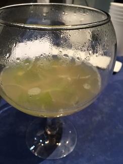Sopa de angulas con caldo de pescado