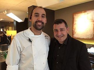 Con Juan Pretel, jefe de cocina de RocaMoo