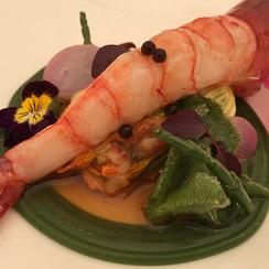 Gamba de Denia Tierra de mar, receta ganadora