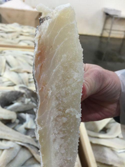 Soberbio lomo de un bacalao de Islandia