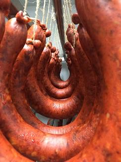 Sobrasada de herradura, con 21 días de maduración en cámaras