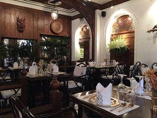 Interiror del restaurante Blue Elephant en Bangkok