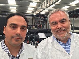 Oscar Santamaría director técnico, junto a Luis González Presidente del Consejo