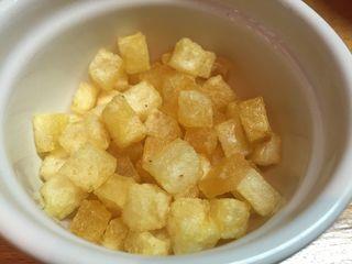 Patatas fritas en cuadraditos