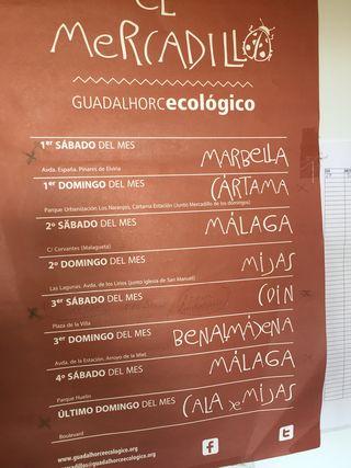 Calendario del mercadillo ecológico
