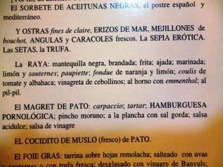 Raya al pil pil en el restaurante La Gastroteca, ya desaparecido