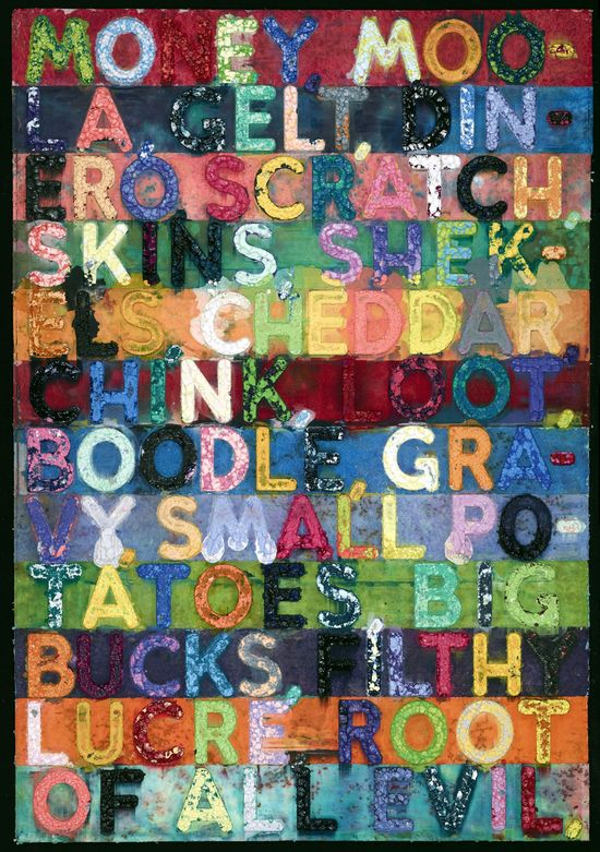 7. Hispánica Contemporánea. Mel Bochner. Money, 2005.