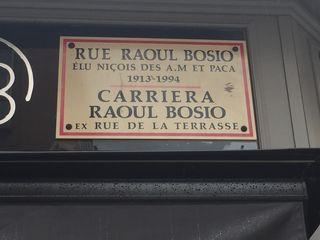 La calle Raoul Bosio donde se encientra La Merenda