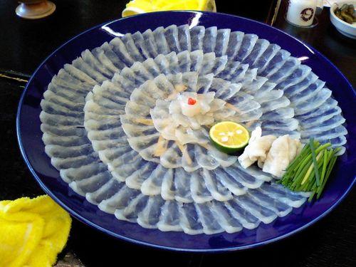 7. Sashimi de fugu