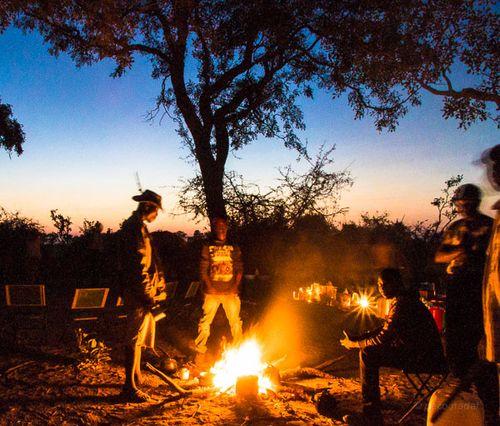 Una barbacoa el delta del Okavango