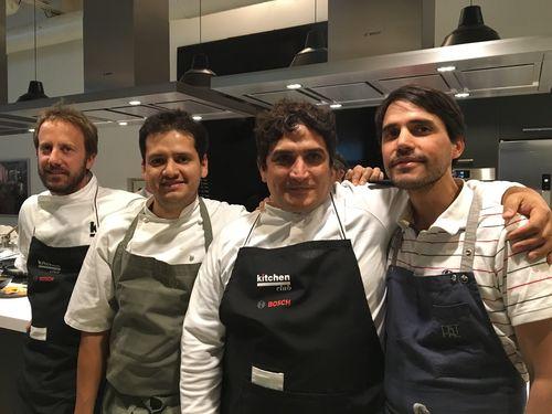 Los cuatro cocineros artífices de la cena