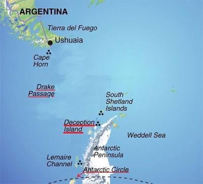Mapa posición isla Decepción