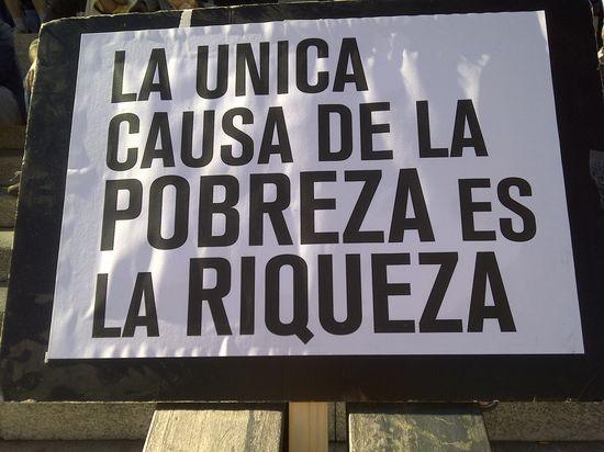 Pancarta pobreza