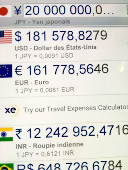 CONVERSIÓN DE YENES A EUROS. PRECIO DE VENTA DE UN BUEY DE MATSUTSAKA 161.778 EUROS AL CAMBIO