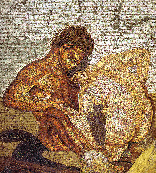 540px-Pompeii_-_Casa_del_Fauno_-_Satyr_and_Nymph_-_MAN