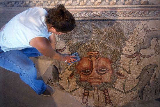 Imagen del Mosaico de Neptuno en Carranque, Toledo cARLOS pASCUAL