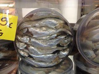 Vendaces (peces de agua dulce en salmuera)