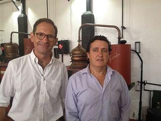 Jaime de Oriol director de Casalbor y Pablo Merello, director de la destilería