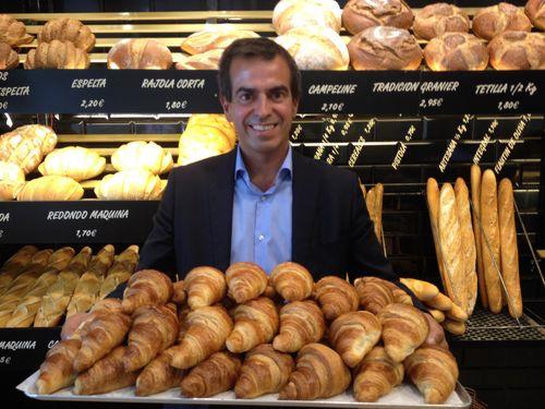 Jordi Gallés en una de las tiendas de Granier