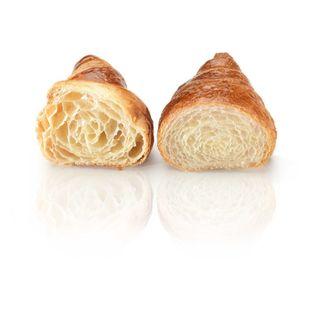 El cruasán de la izquierda de alveolo más pronunciado e irregular es mejor que el de la derecha de alveolos pequeños