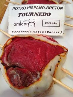 Magnífico aspecto de este turnedó en la carnicería Atón de Burgos
