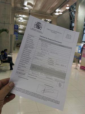 Documentos aeropuerto Bangkok