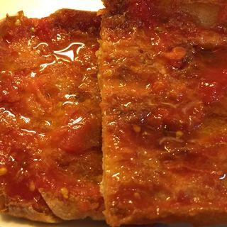 Pan con tomate del Bar Bas en Barcelona, realmente excelente