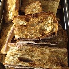Totadas de pan de cristal listas para la receta